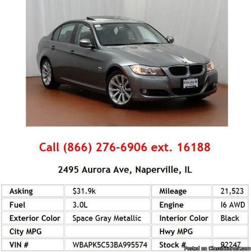 Bmw Xi 2006: 2011 BMW 328 Xi Sulev Space Gray Metallic Sedan I6 For
