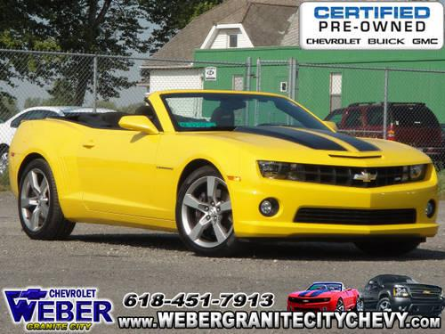 Weber Chevrolet Granite City Il >> 2011 Chevrolet Camaro Convertible SS for Sale in Granite ...
