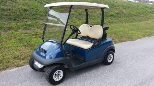 2011 Club Car Precedent Blue Golf Cart W Lights Only 22