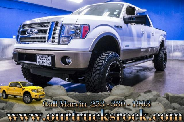 2011 ford f 150 super crew cab 4x4 lariat ecoboost lifted f150 for sale in edgewood washington. Black Bedroom Furniture Sets. Home Design Ideas