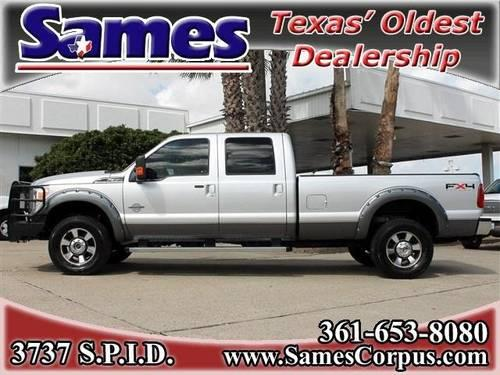 2011 Ford F 350 Crew Cab Pickup Lariat Diesel 4x4 Long Bed Srw For