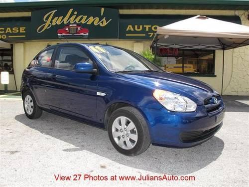 Julians Auto Showcase >> 2011 Hyundai Accent Two-Door Coupe GS for Sale in New Port Richey, Florida Classified ...