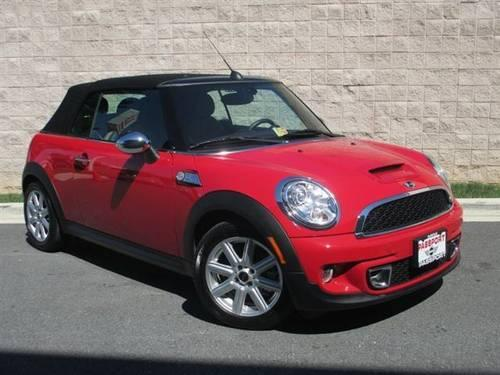 2011 mini cooper convertible s convertible for sale in alexandria virginia classified. Black Bedroom Furniture Sets. Home Design Ideas