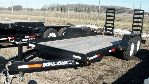 2011 Sure Trac 7x16 Skid Steer Utility Trailer For Sale