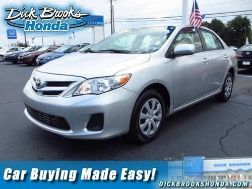 2011 toyota corolla 4dr car le for sale in greer south carolina classified. Black Bedroom Furniture Sets. Home Design Ideas