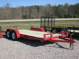 2012 CAR HAULER TRAILER 18FT 1 AXLE BRAKE 162 DOVETAIL - $1795 bullitt