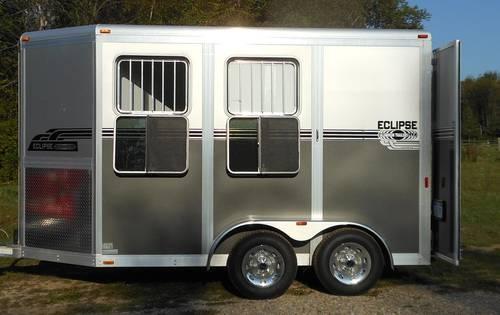 2012 Eclipse 2 Horse Aluminum Slant Load Bumper Pull