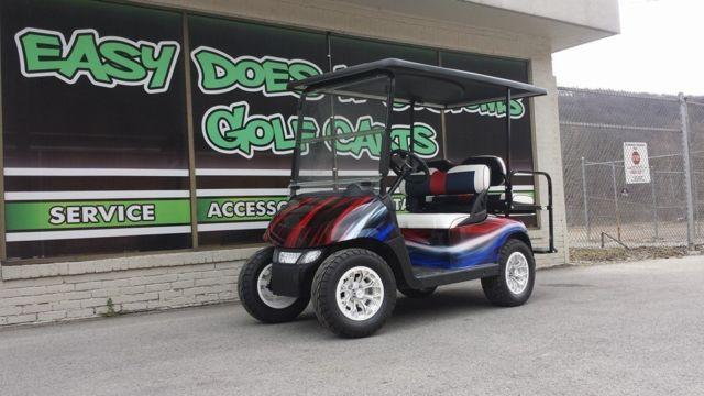 2012 Ezgo 4 Passenger Golf Cart With Red White And Blue