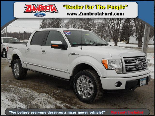 2012 ford f 150 supercrew 4x4 platinum for sale in zumbrota minnesota classified. Black Bedroom Furniture Sets. Home Design Ideas