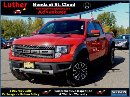2012 ford f 150 supercrew 4x4 svt raptor for sale in saint cloud minnesota classified. Black Bedroom Furniture Sets. Home Design Ideas