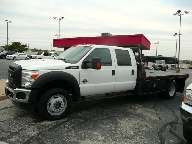 Ford F450 XL Crew Cab 4x4 6.7 Diesel 11' Flatbed Service Utility Truck