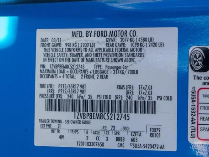 2012 Ford Mustang V6 Premium V6 Premium 2dr Convertible