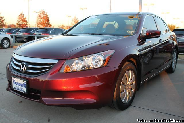 2012 honda accord maroon 26k for sale in baltimore