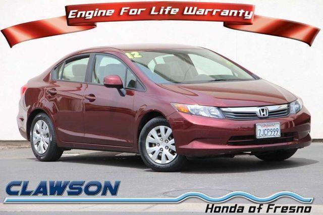 2012 Honda Civic LX LX 4dr Sedan 5A for Sale in Fresno, California ...