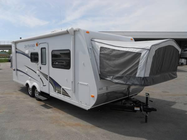 2012 jayco jay feather x23f hybrid travel trailer for sale in suamico wisconsin. Black Bedroom Furniture Sets. Home Design Ideas