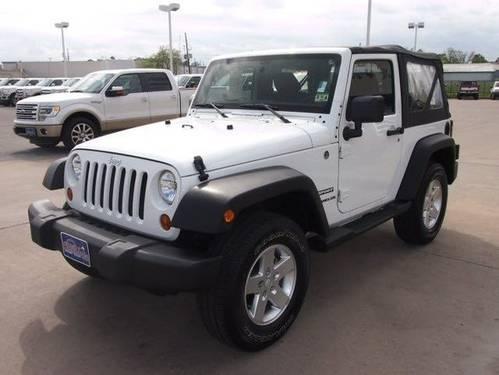 2012 jeep wrangler sport manual trans 15 045 mi 39 s white for sale in barrett texas. Black Bedroom Furniture Sets. Home Design Ideas
