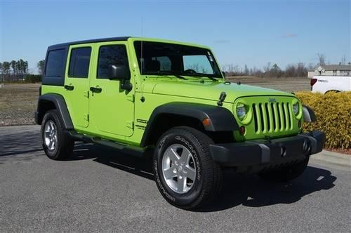 2012 Jeep Wrangler Unlimited Convertible 4wd Sport For