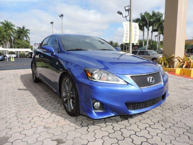 2012 lexus is 250 f sport blue auto 26k miles for sale in miami florida classified. Black Bedroom Furniture Sets. Home Design Ideas