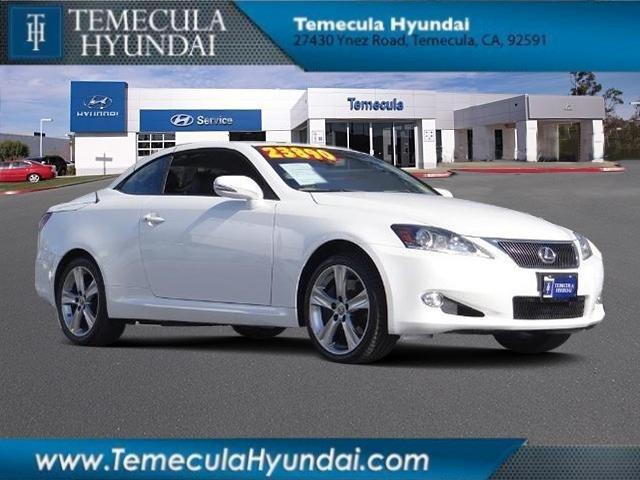 2012 lexus is 350c base 2dr convertible for sale in rancho. Black Bedroom Furniture Sets. Home Design Ideas