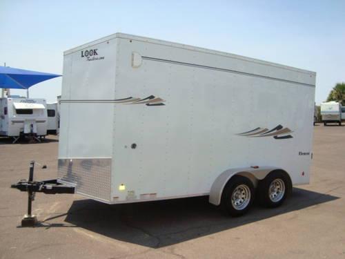 2012 Look 16 Ft Cargo Toy Hauler Trailer Has A Fuel