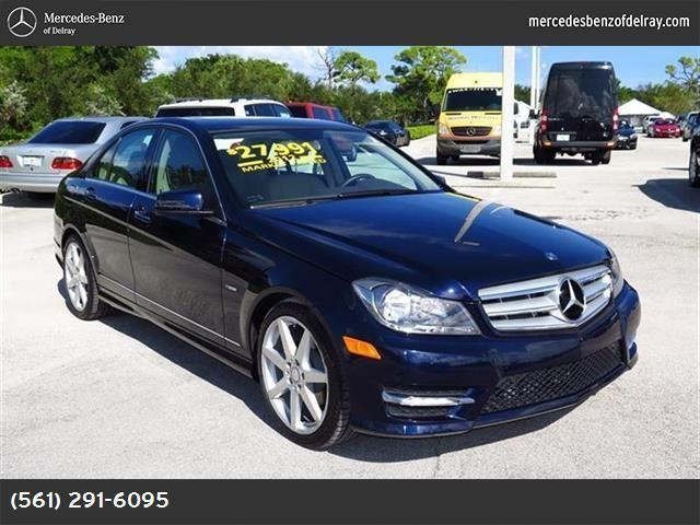 2012 mercedes benz c class for sale in delray beach