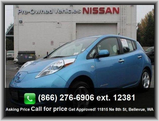 2012 nissan leaf sv hatchback for sale in seattle. Black Bedroom Furniture Sets. Home Design Ideas
