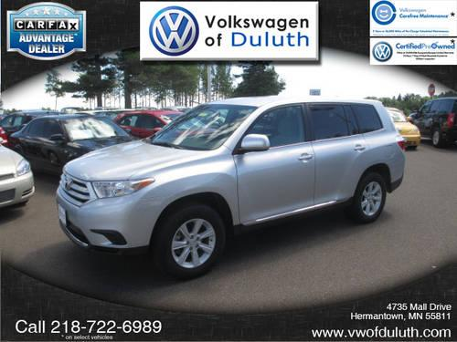 2012 toyota highlander suv awd 4wd 4dr v6 for sale in duluth minnesota classified. Black Bedroom Furniture Sets. Home Design Ideas