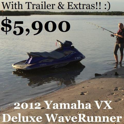 2012 YAMAHA VX DELUXE WAVERUNNER 4 STROKE with
