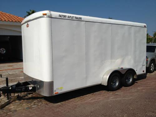 2012 16 ft enclosed utility trailer for sale in la quinta california