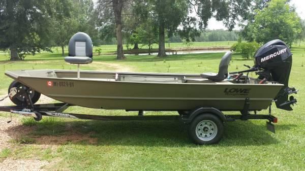 2013 16 foot lowe semi v jon boat for sale in oak vale for 16 foot aluminum boat motor size