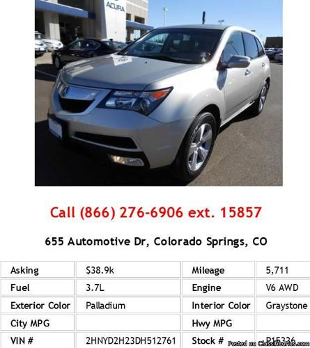 2013 acura mdx palladium suv v6 for sale in colorado. Black Bedroom Furniture Sets. Home Design Ideas