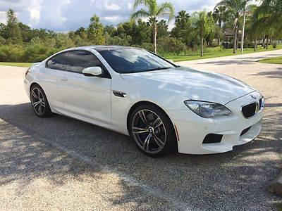 2013 BMW M6 Coupe 2-Door 4.4L White on Red Perfect