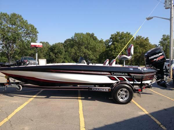 2013 charger 195 foxfire bass boat w mercury 150hp pro xs trailer