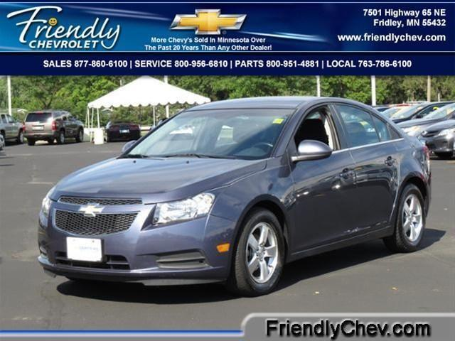 2013 chevrolet cruze sedan 1lt auto for sale in fridley. Black Bedroom Furniture Sets. Home Design Ideas