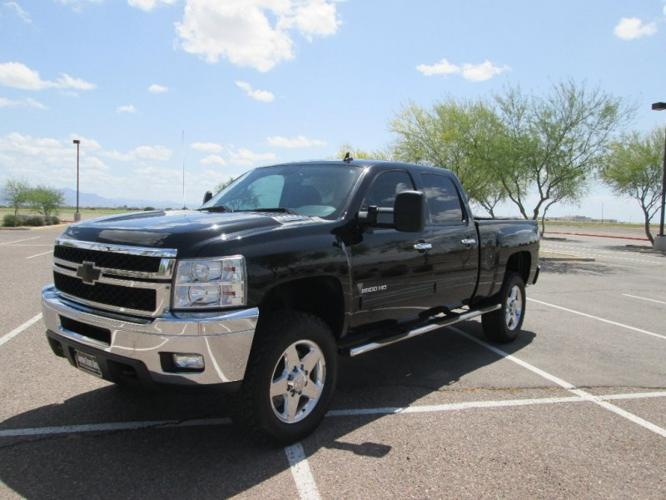 2013 chevrolet silverado 2500hd 4wd crew cab lt duramax allison lifted level 1 owner carfax cert. Black Bedroom Furniture Sets. Home Design Ideas