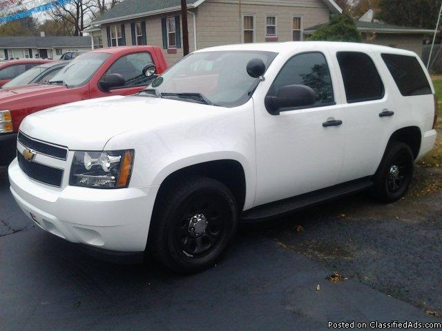 2013 chevy tahoe 2wd with police package for sale in bass lake indiana classified. Black Bedroom Furniture Sets. Home Design Ideas