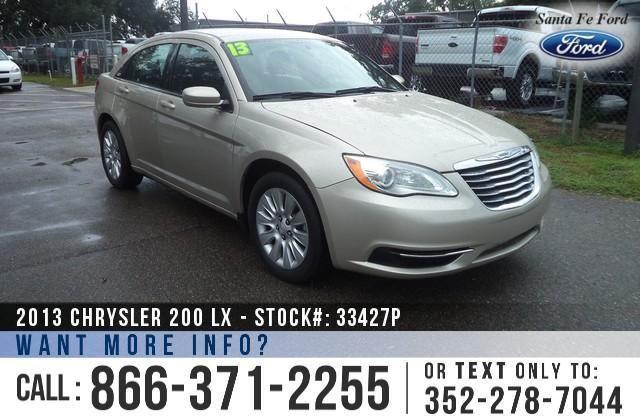 2013 Chrysler 200 LX - 44K Miles - On-site Financing!