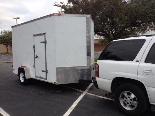 2013 Enclosed Cargo Trailer 14 Long 7 Wide 9 Tall For