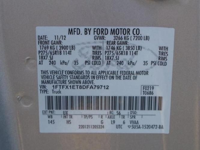2013 Ford F-150 Lariat 4x4 Lariat 4dr SuperCab