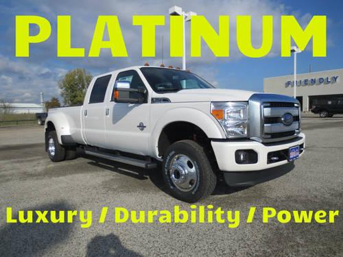2013 Ford F350 4x4 Super Crew Platinum Dually Nav,