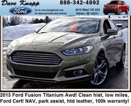 2013 ford fusion 4 door sedan for sale in adrian michigan classified. Black Bedroom Furniture Sets. Home Design Ideas