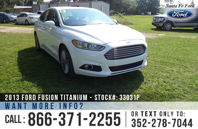 2013 Ford Fusion Titanium - Back-up Cam - Leather