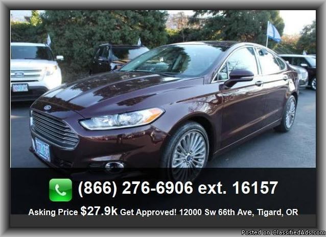 2013 ford fusion titanium sedan for sale in portland oregon classified. Black Bedroom Furniture Sets. Home Design Ideas