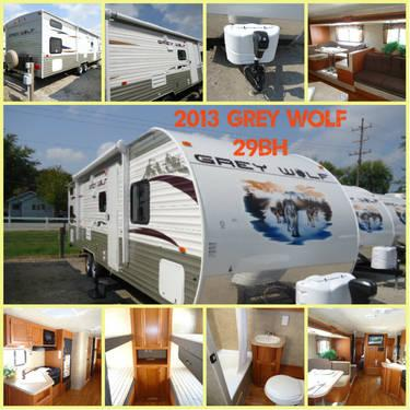 2013 Forest River grey Wolf CCKT29BH Travel Trailer