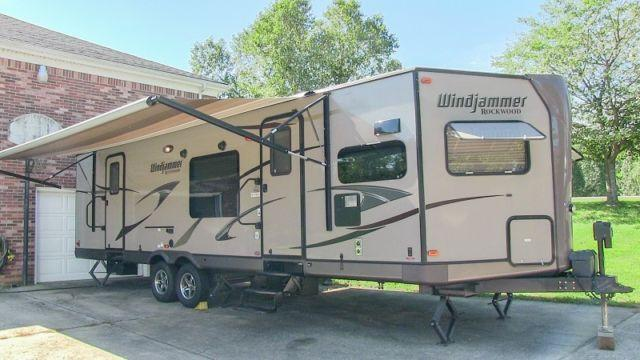 2013 Forest River Rockwood Windjammer travel trailer,