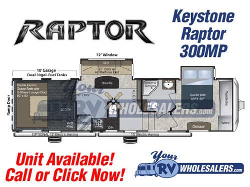 2013 Keystone Raptor 300MP 5th Wheel Toy Hauler