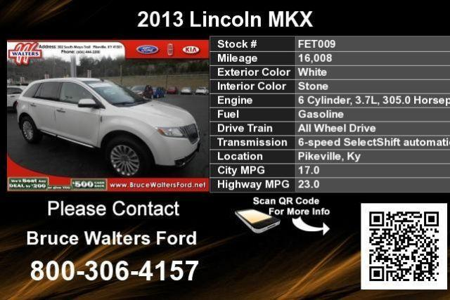 2013 lincoln mkx white for sale in broad bottom kentucky. Black Bedroom Furniture Sets. Home Design Ideas