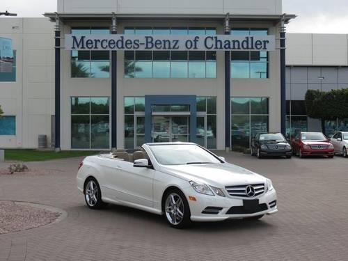 2013 mercedes benz e class 2d convertible e550 for sale in chandler. Cars Review. Best American Auto & Cars Review