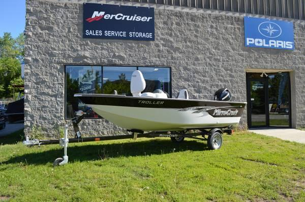 2013 mirrocraft 14 39 troller ltd boat motor trailer for for Outboard motors for sale in wisconsin