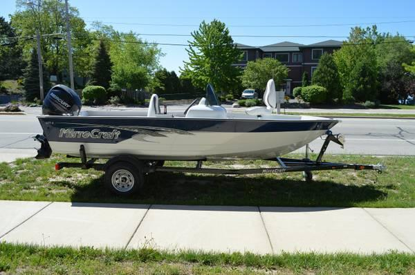 2013 mirrocraft 1677 outfitter boat motor trailer for for Outboard motors for sale in wisconsin